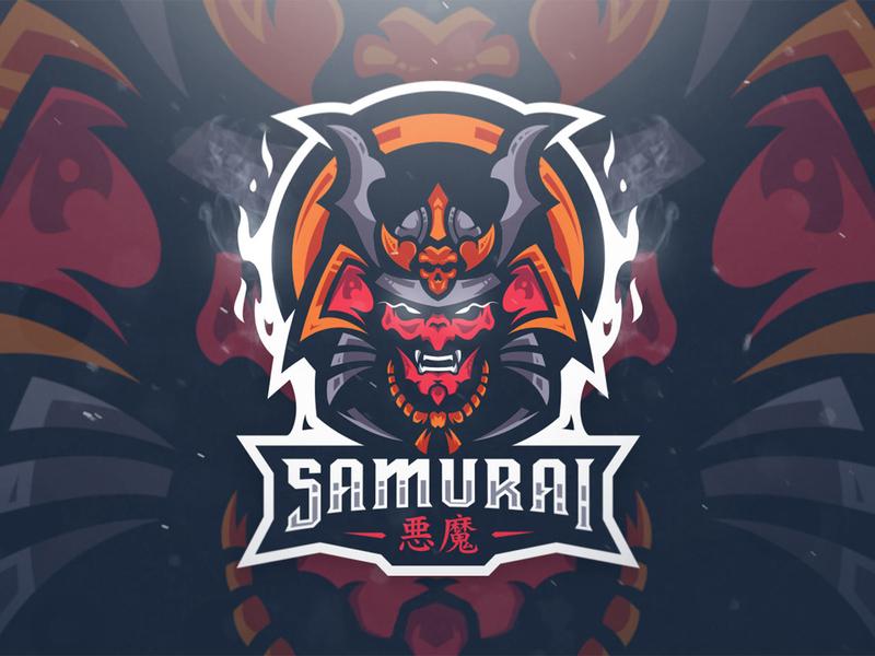 """Samurai"" eSports Logo illustration logo esport mascot logo mascotlogo mascot design mascot esports esportlogo design"