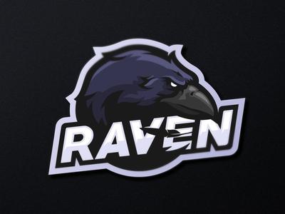 """Raven"" eSports Logo illustration esport logo mascot logo mascotlogo mascot design mascot esports esportlogo design"
