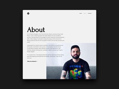 New personal website monochrome personal project user interface design website design websites portfolio website