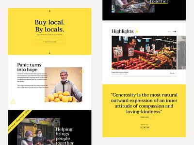 Buy Local Homepage buy local covid19 website design website uidesign user interface ui web