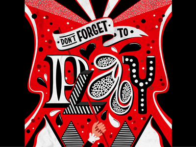 Don't Forget to Play womensday coke coca-cola pattern colorful type typography lettering illustration