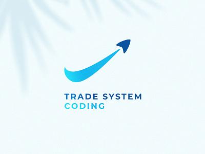 Trade system coding it coding trade system logotype branding logo