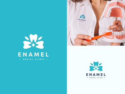 dental clinic logo doctor logo orchid dental health dentist enamel dental clinic graphic design branding logo
