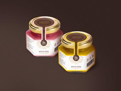 honey cream label doodle illustrations bee label cream honey branding graphic design
