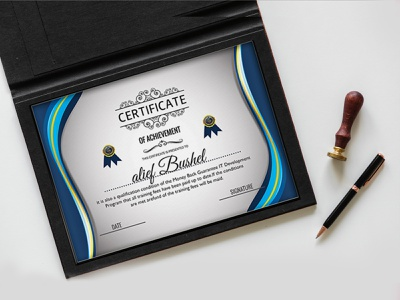 Certificate Designs Of Achievement logodesign icon logotype clean certificate template certificate design certificate graphicdesign branding design logo brand identity