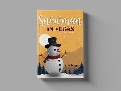 Snow Man In Vegas Book Cover Design flat logotype illustration graphicdesign design branding logo brand identity book cover illustration book cover template book cover mockup book cover design book cover art book cover