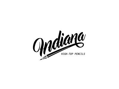 Indiana High Top Pencils Logo Design icon logodesign flat logotype illustration graphicdesign design branding logo brand identity