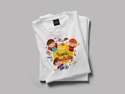 Kids Iconic Creativity T Shirt Design branding logo brand identity logodesign flat logotype illustration texture tshirt design tshirt art t shirt art typography t shirt