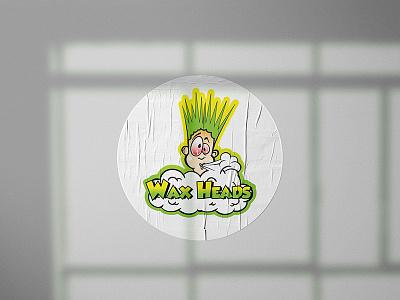 Wax Heads Sticker Design icon logodesign logotype illustration design branding logo brand identity flat illustration sticker design graphicdesign flat design flat