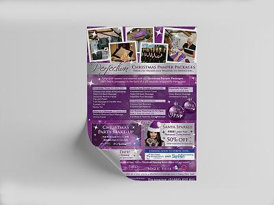 Christmas Pamper Packages Flyer Designs flyer design ideas flyer artwork flyer designs brand flyer design logodesign flat logotype illustration graphicdesign design branding logo brand identity