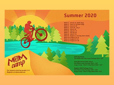 Mountain Bike Camp Post carousel socialmedia travel flat design bike illustrator vector poster design illustration post