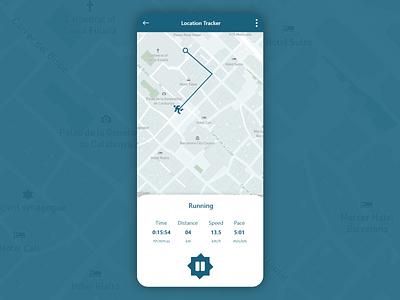 DailyUI #020 - Location Tracker illustration uiux web ios app ui  ux design android logo motion graphics graphic design 3d animation ui