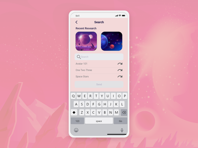DailyUI #022 - Search illustration web ios app ui  ux uiux design android branding logo motion graphics graphic design 3d animation ui