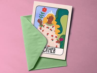 The Mother illustration tarotcard card mothersday