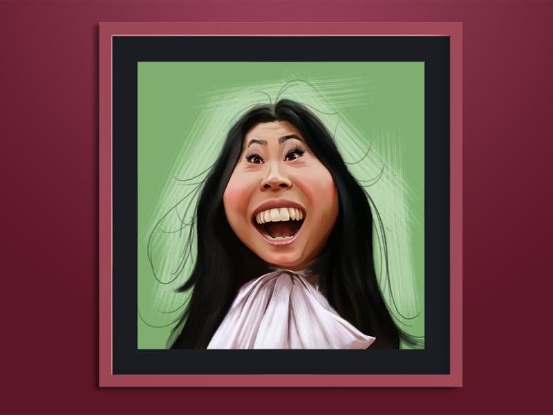 Awkwafina portrait illustration digital painting caricature