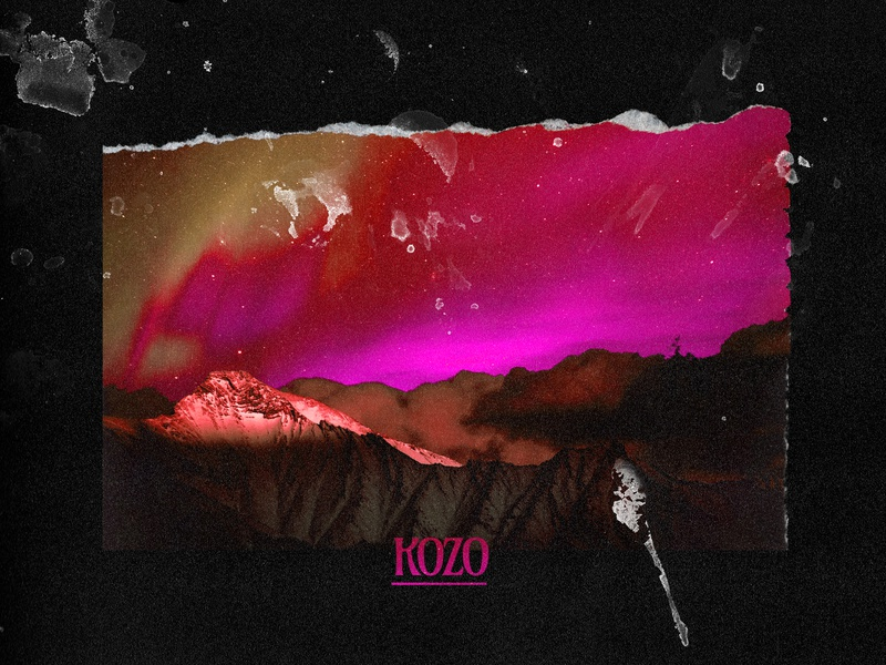 KOZO | COVER ART rise of the north star album cover album art music retouching photoshop kevlard graphic design design artwork art direction album colors gradient