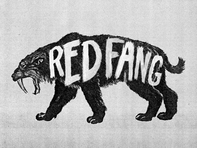 Red Fang custom type good times red fang poster