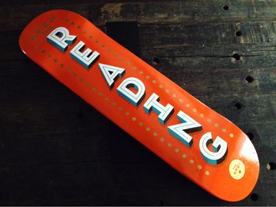 Keep on Reading custom type good times skateboard hand-painted