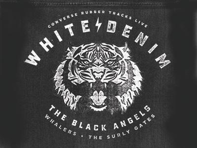 White Denim poster tiger illustration good times