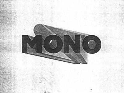 MONO typography custom type good times mono
