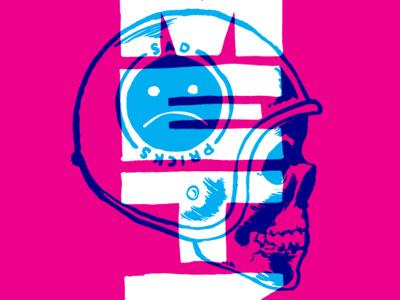 Metz poster illustration skull