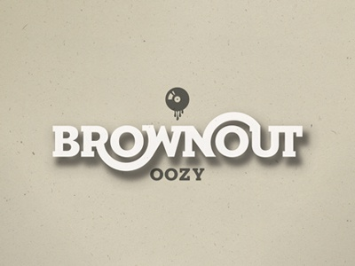 Brownout brownout oozy album packaging logo fancypants