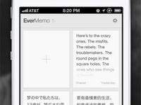 Evermemo · A simple memo with Evernote