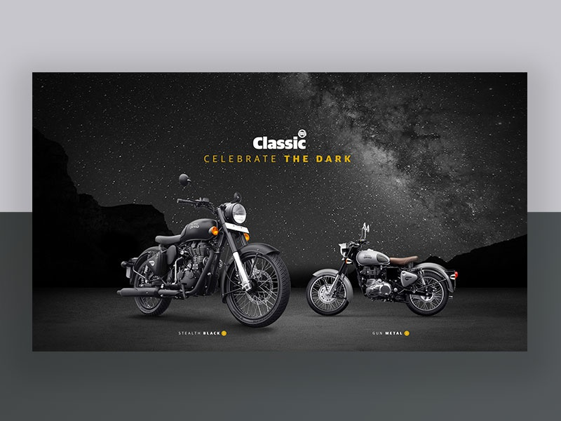 Matte Black Motorcycle Launch bike blackandwhite vintage classic royalenfield automobile motorcycle matte black minimal ux ui