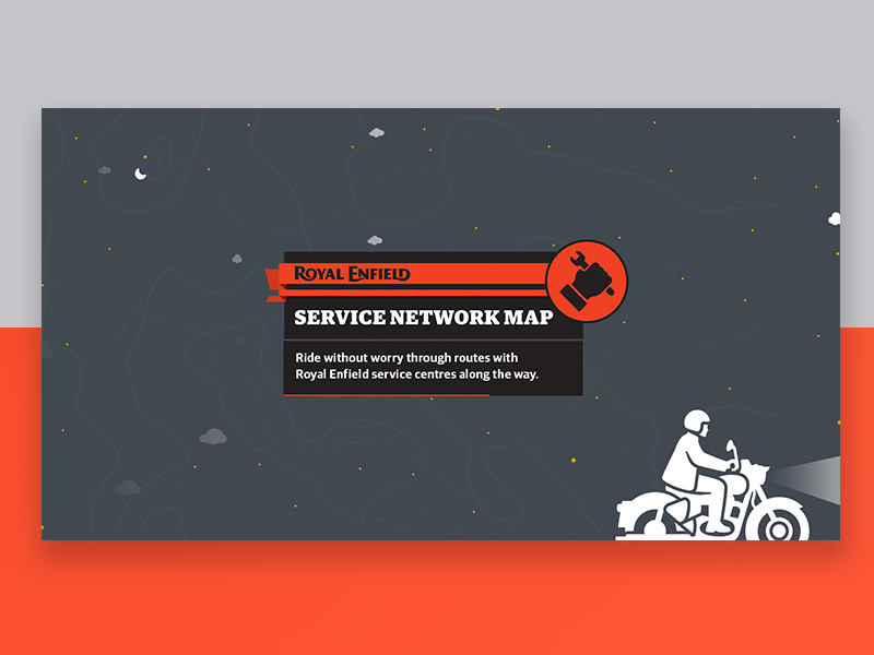 Service Network Map - Royal Enfield terrain india repairs ride rider stars service royalenfield motorcycle minimal ux ui