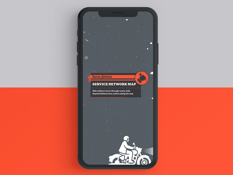 Service Network Map - Royal Enfield terrain india ride rider stars sky service royalenfield motorcycle minimal ux ui