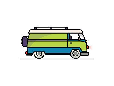 Ruh-roh… vectorgraphic vector graphicdesign design minivan vroomvroom illustration medalingkids