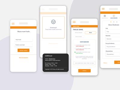 Fintech mobile version app ui wireframe webdesign ux design