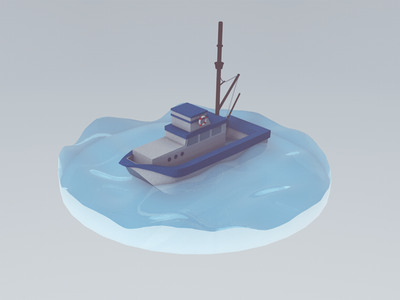 You're gonna need a bigger boat. c4d boat model