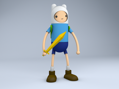 What time is it? c4d finn adventure time