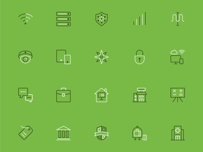 Meraki Menu Icons website technology web vector ui icons illustration design