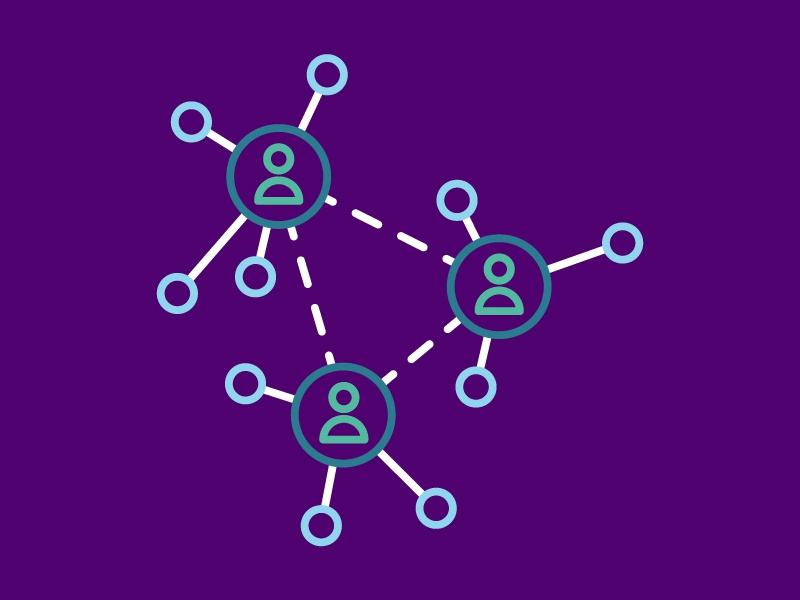 Connecting purple icons line work design graphic design illustrator illustration experiences collaboration relationships networking connecting