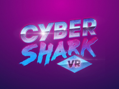 Cyber Shark Logo design creative shark virtual reality vr game ios monogram symbol mark logo app