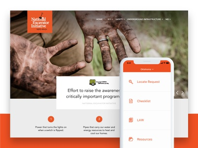 National Excavator Initiative application iphone app web design software responsive applications design ui website graphic design user interface