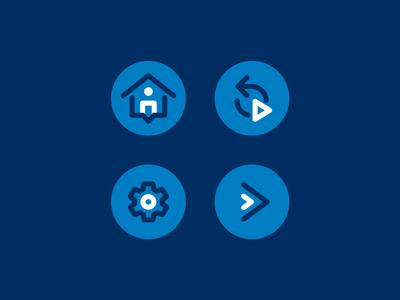 OKC Thunder VR Icons icons icon minimal flat simple ui okc oklahoma city thunder vr virtual reality user interface