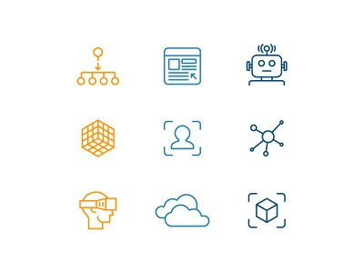 What We Do color line iconography icon set illustration icon icons