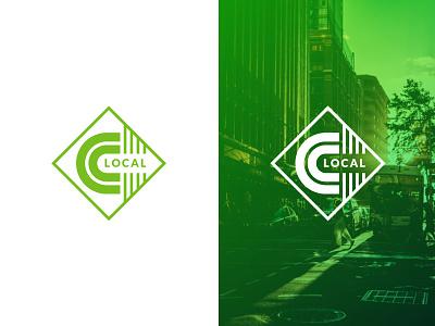 Citizen's Local Logo lines forward arrow community city branding logo design identity symbol mark logo local