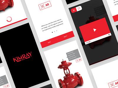 Kimray App experience video ios catalog ar augmented reality design ux app user interface ui