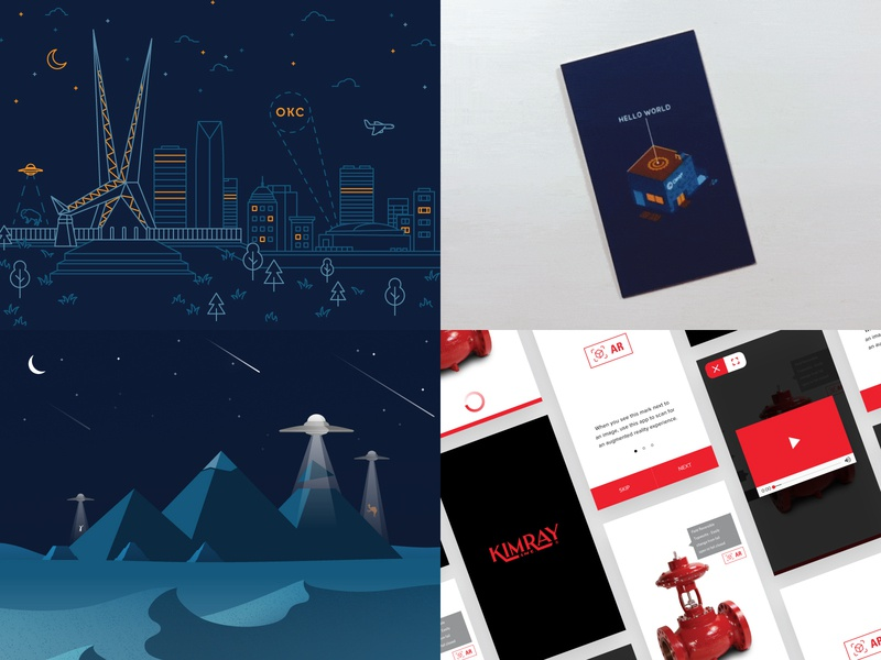 Top Shots of 2018 ui  ux design ar augmented reality app business cards 2019 2018 graphic design vector icons user interface ui illustration design
