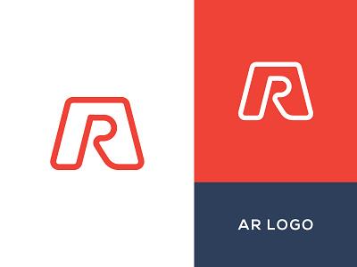 AR Logo exploration simple flat identity design branding symbol mark logo ar augmented reality vector