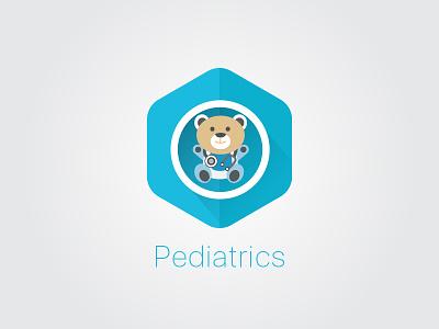 Pediatrics Icon illustration long shadow flat icon pediatrics pedia