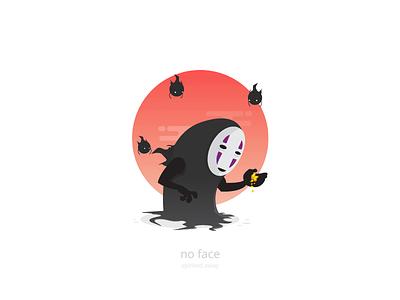No Face (Kaonashi) spirited away studio ghibli character design vector ghibli no face