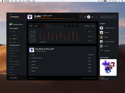 Winamp X ⚡ UI Design ui design redesign ui winamp