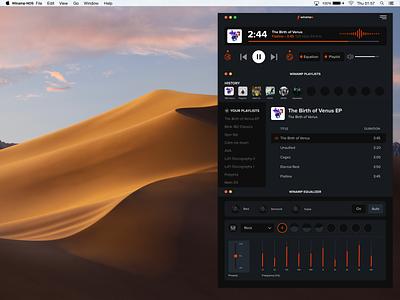 Winamp NOS ⚡ UI Design ui redesign winamp design ui