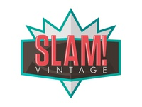 SLAM! Vintage Logo - Revised basketball retro logo 90s nba jam throwback sports vintage clothing