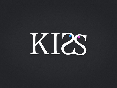 KISS OF LOVE art rendering typeface typography design graphics pink blue expression kiss valentine love